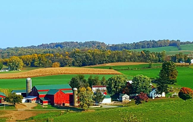 Amish homestead in the hills of Ohio