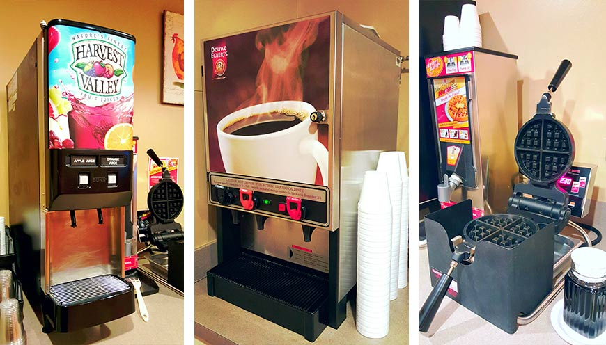 Drink machines and waffle maker