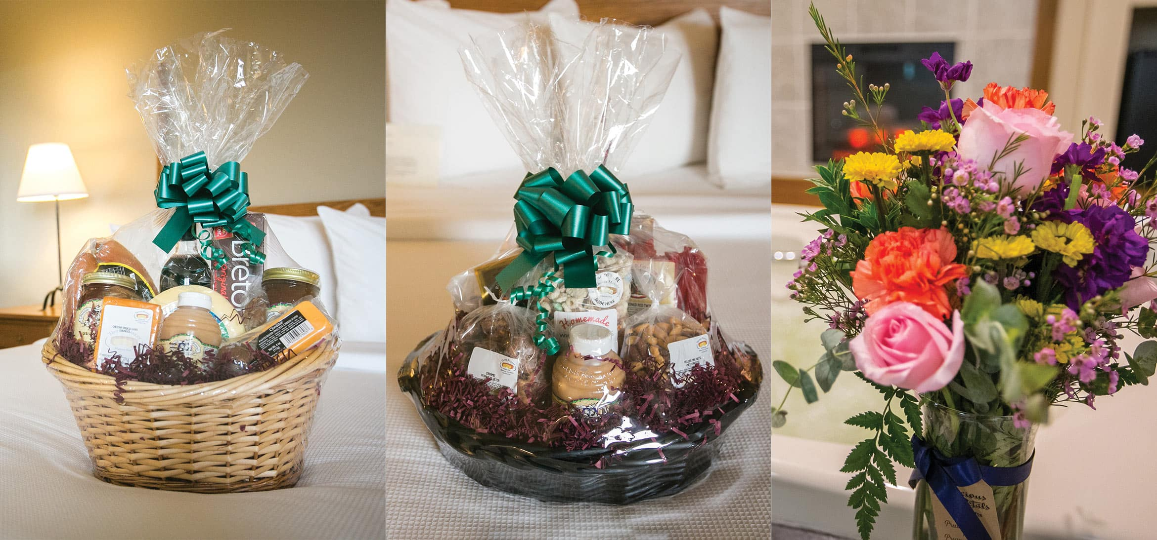 Amish country baskets and flowers