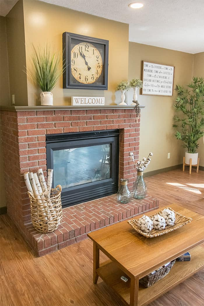Fireplace in the Gathering Room